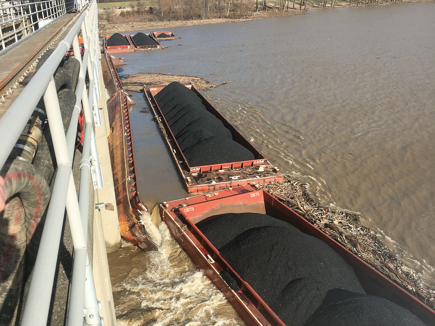 Rising Water Slows Barge Response At McAlpine Dam