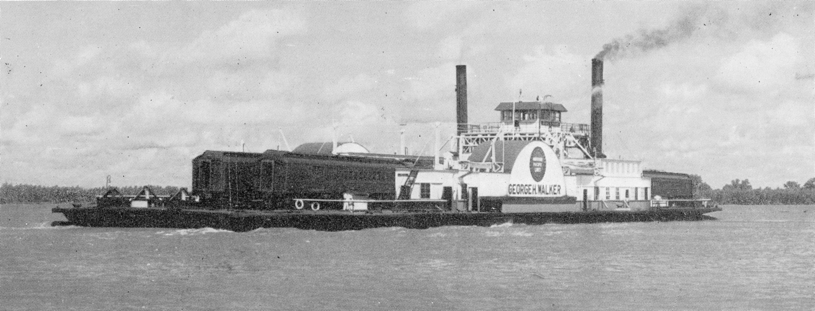 The steam ferry George Herbert Walker operated on the Lower Mississippi River between Baton Rouge and Anchorage, La.