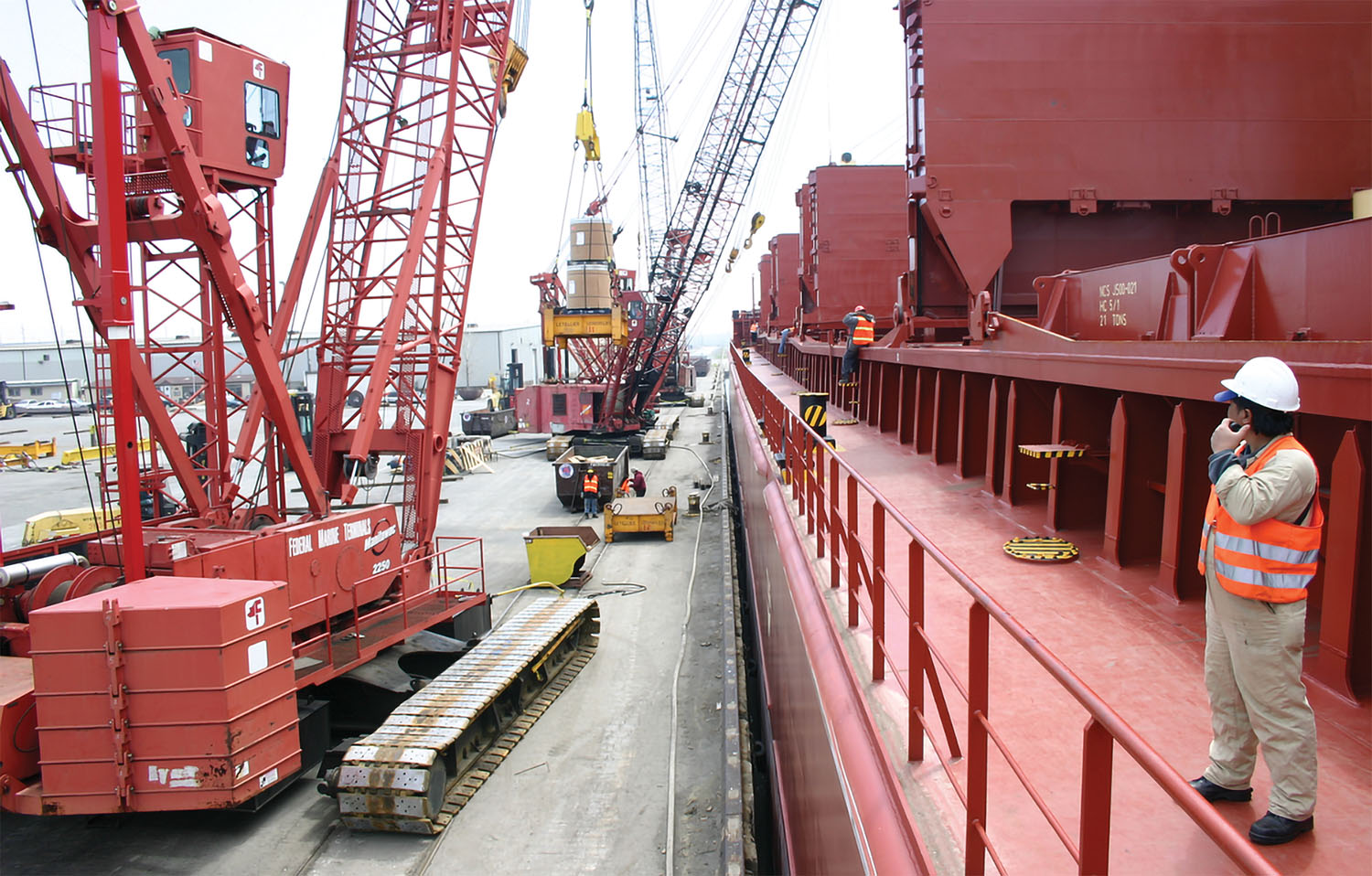 FMT has been handling cargoes in the Great Lakes and St. Lawrence River and along the East and Gulf coasts since 1960. (Photo courtesy of the Ports of Indiana)