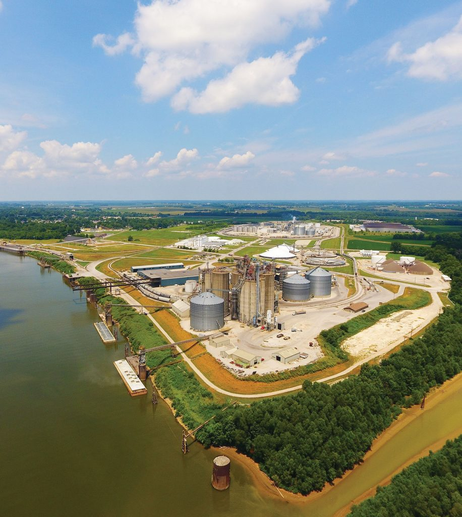 The Port of Indiana-Mount Vernon handled 9.6 million tons of products in 2018. (photo courtesy of the Port of Indiana-Mount Vernon)