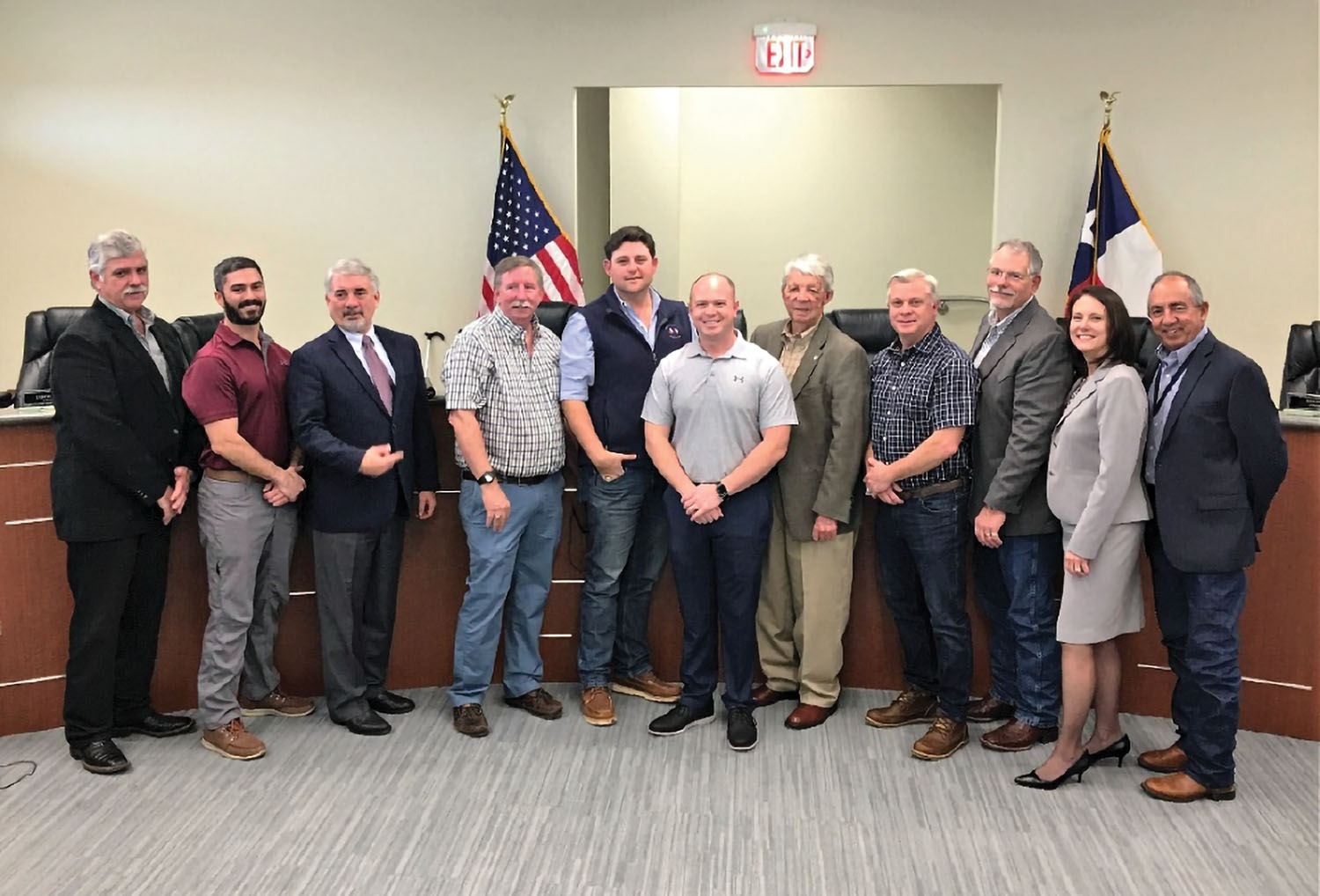 Port Freeport Commission and Executive Director/CEO, Phyllis Saathoff, joins with the Brazos Pilots Association to commemorate the approval of a port dispatch center. (Photo courtesy of Port Freeport)