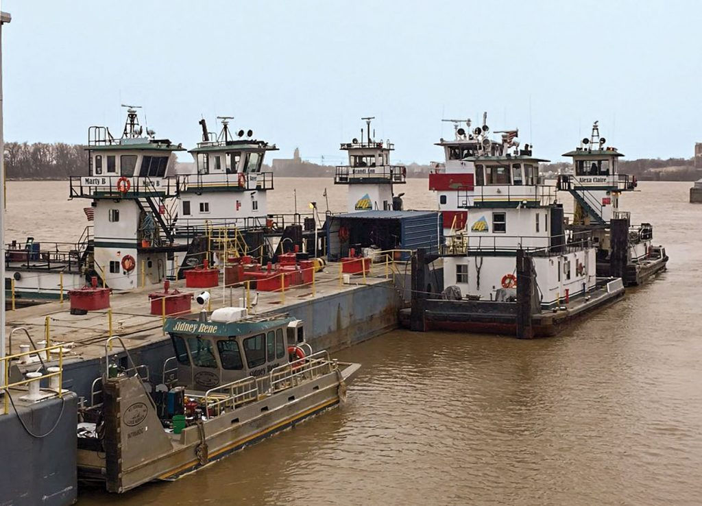 Mount Vernon Barge Service has provided shippers at the port with harbor, repair, fleeting, stevedoring and cleaning services for nearly 50 years. (Photo courtesy of Mount Vernon Barge Service)