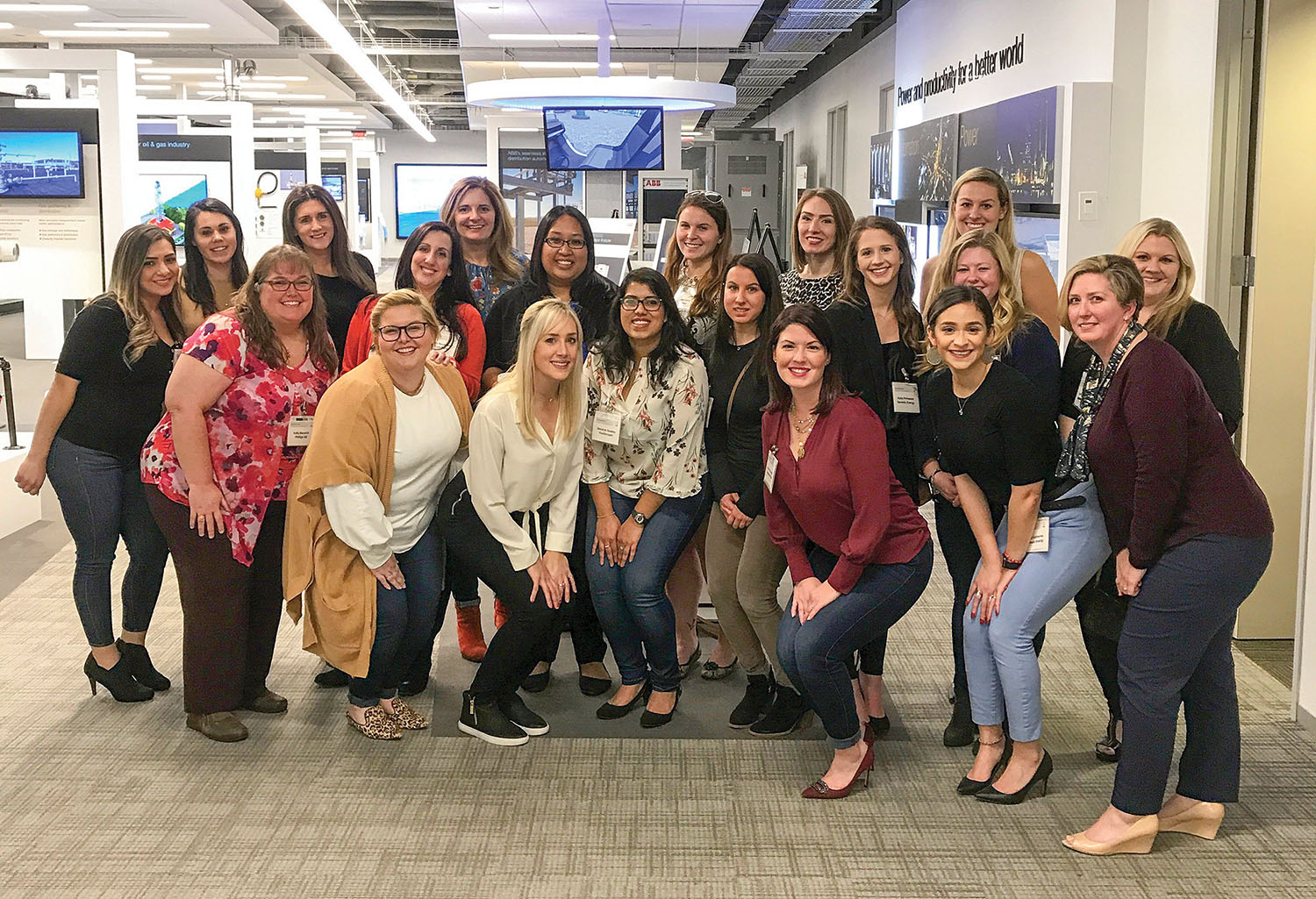 About 25 women from the Houston area gathered January 9 at ABB Marine & Ports' facility there for the first meeting of what will become the Houston chapter of WIMOs. (Photo courtesy of WIMOs)