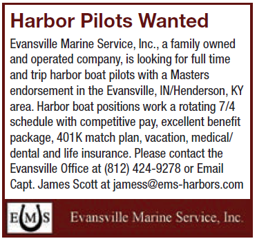 Evansville Marine Services (2 inch) Harbor Pilots Wanted