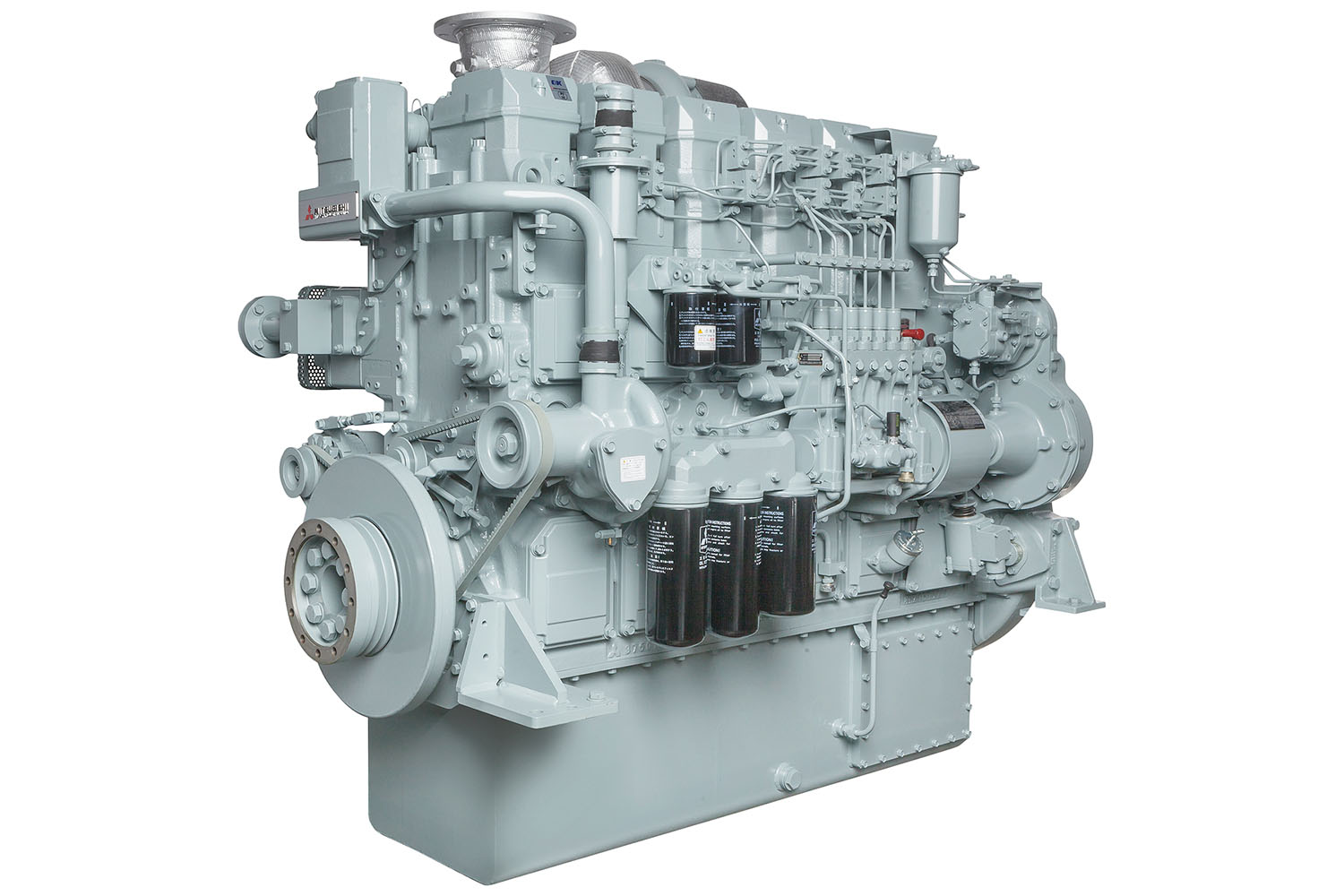 The JPR-ME5000 impeller cooling pump is compact and lightweight at 8.58 inches and 34 pounds. (Photo courtesy of JMP Marine)