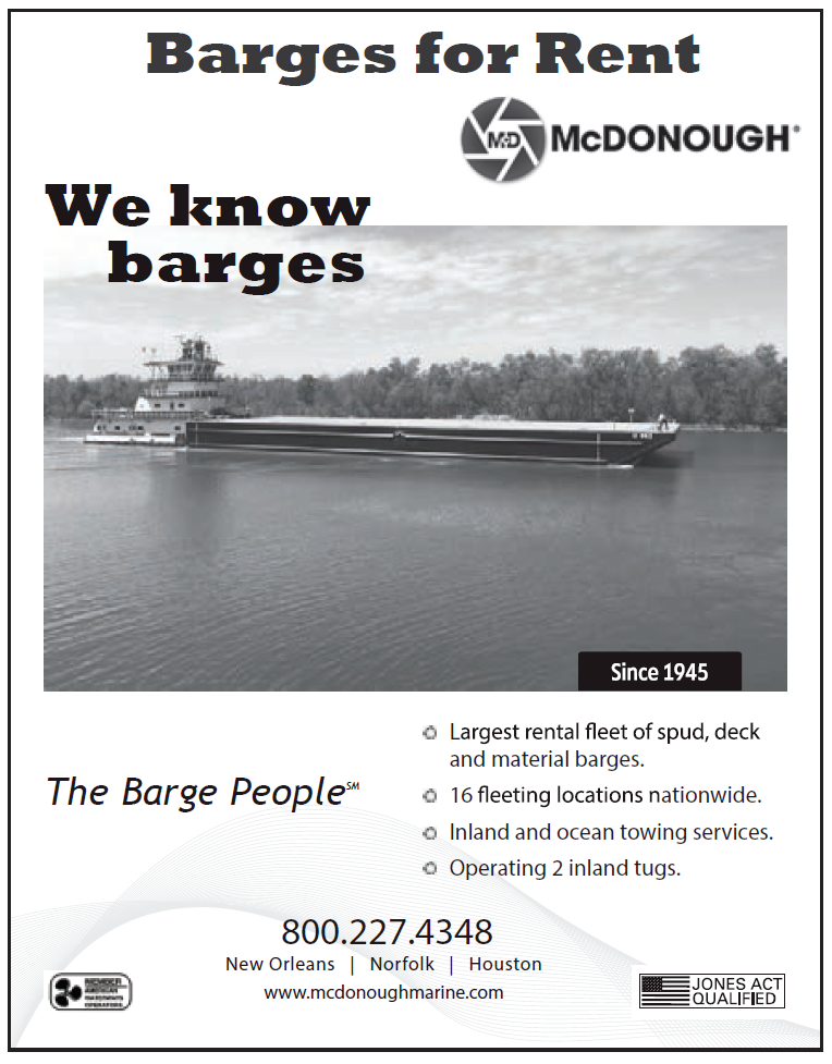 McDonough (Quarter) We Know Barges