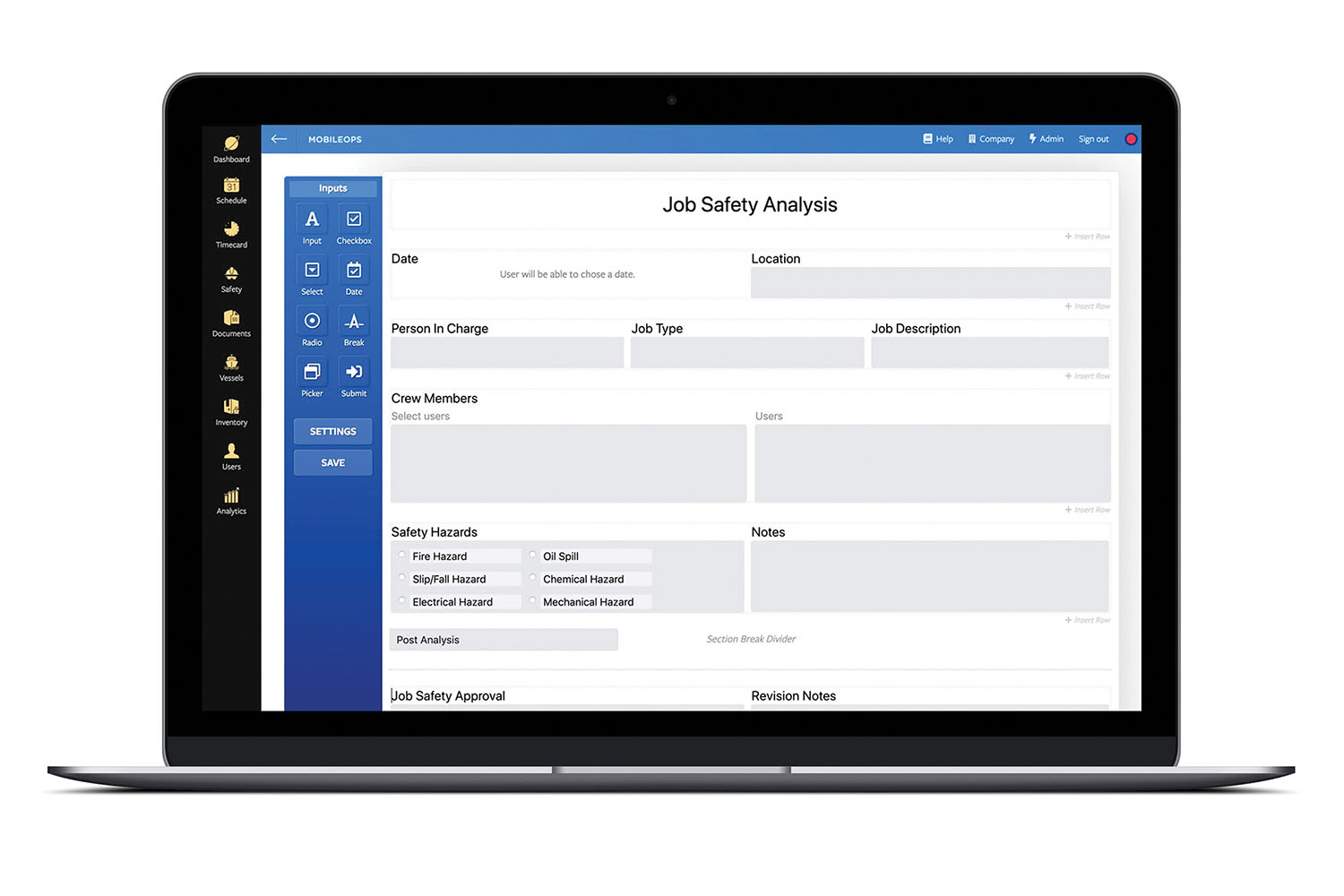 MobileOps Introduces Form Builder To Marine Industry