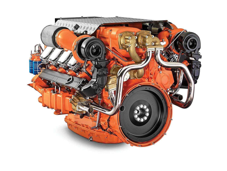 Scania 16-liter marine engine.