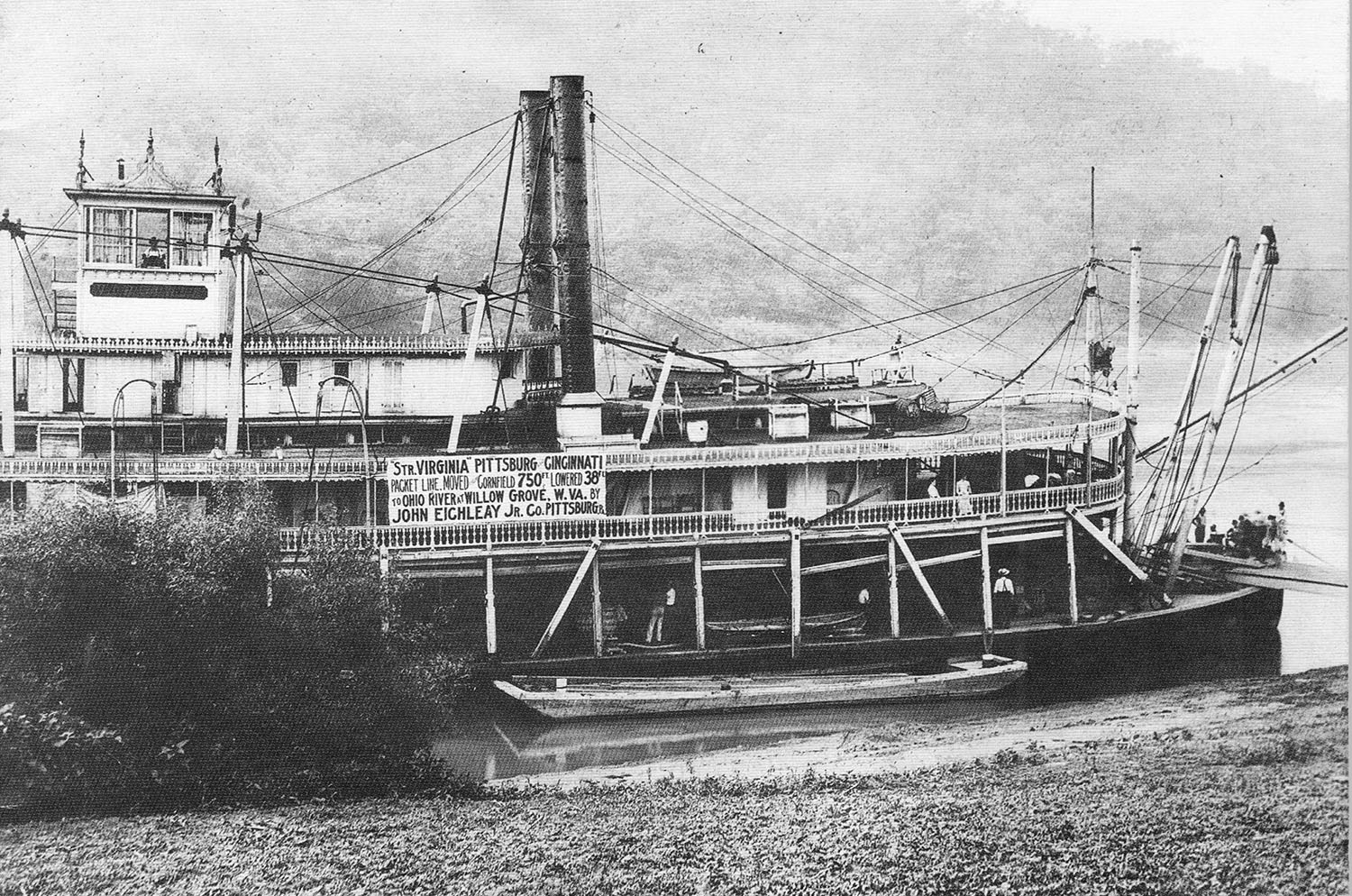 The Virginia after being refloated from the cornfield in June 1910. (Keith Norrington collection)