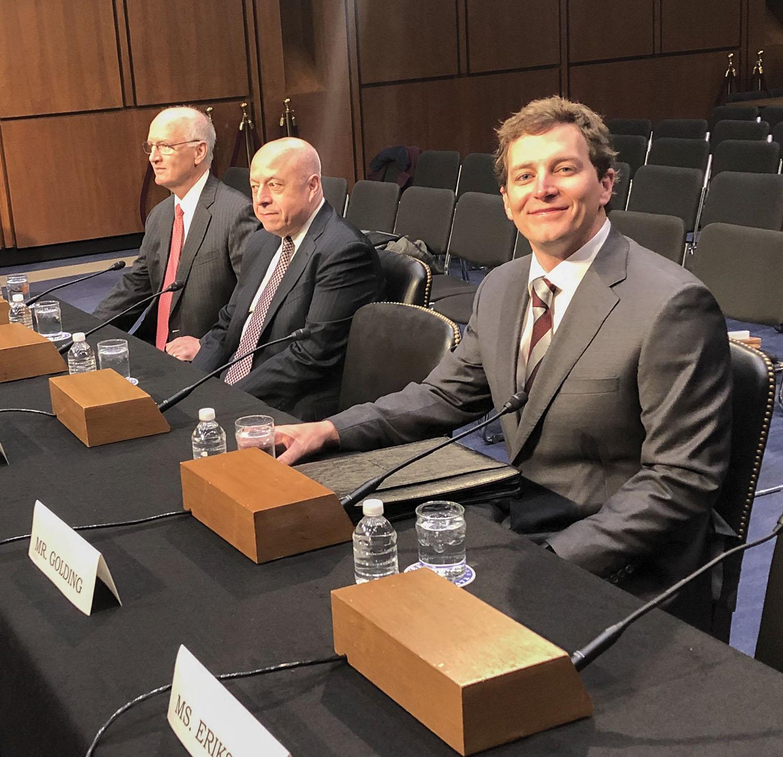 Austin Golding Testifies On Maritime Industry Before Senate