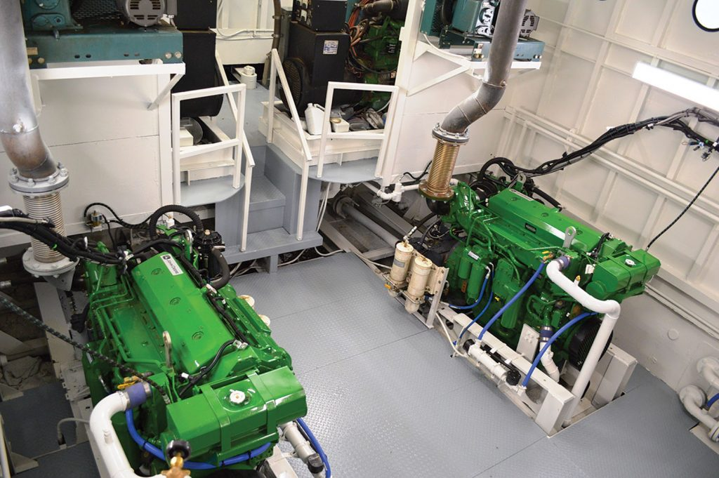 New engines in mv. Pammie. (Photo courtesy of Mike's Inc.)