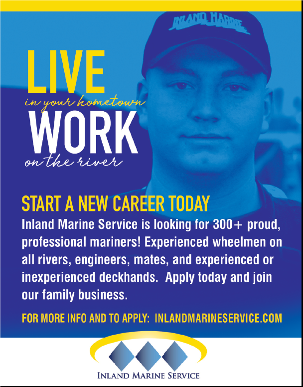 Inland Marine Service (Quarter) Now Hiring