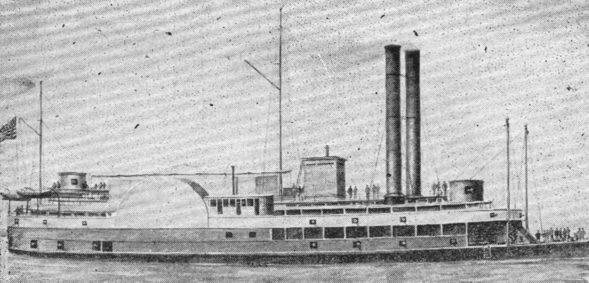 A rendering of the packet Louisville after conversion into a gunboat. (Keith Norrington collection)