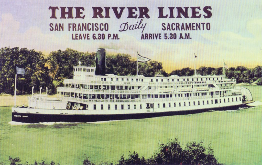 Advertising poster for the Delta King. (Keith Norrington collection)