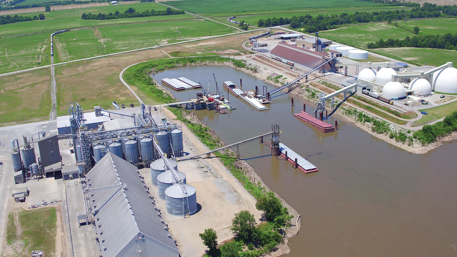 Aerial view of the New Madrid County Port. (Photo courtesy of the New Madrid County Port Authority)