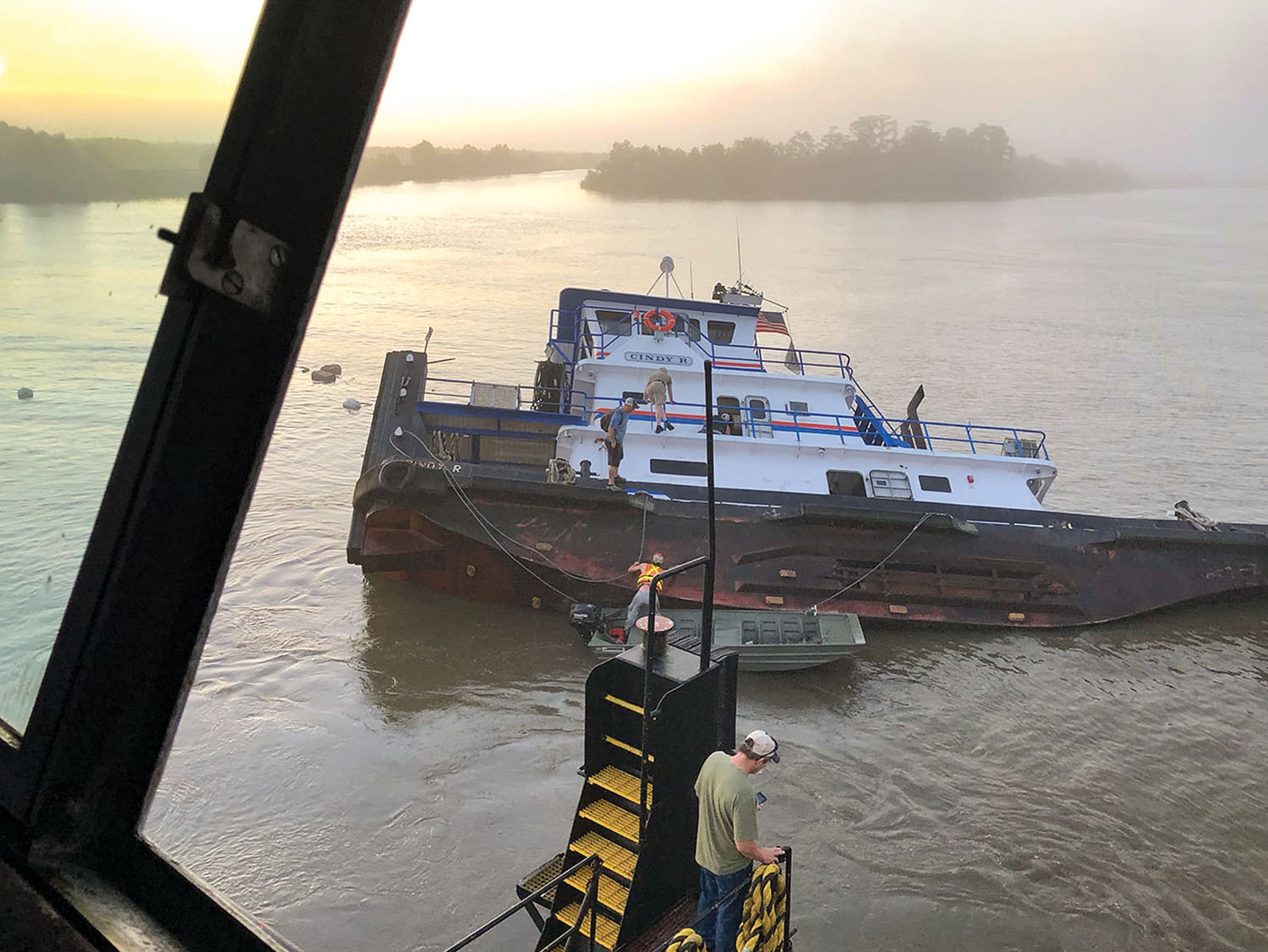 The towboat Cindy R sank on the morning of May 2. (Photo by Robert Edwards)