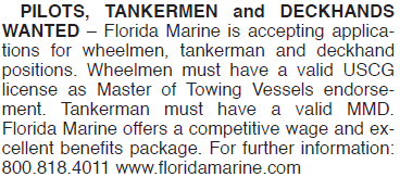 FLORIDA MARINE TANKERMEN DECKHANDS