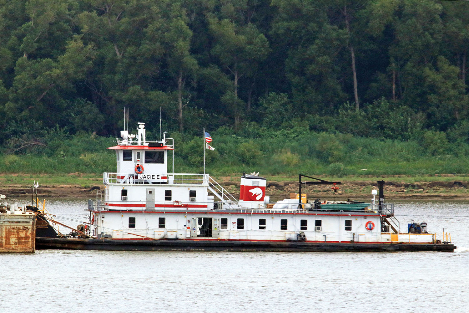 The mv. Jacie E was built in 1953 as the La Salle. It previously served in the Excell fleet as the River Wolverine and then the Capt. Dick Morton. (Photo by Jeff L. Yates)
