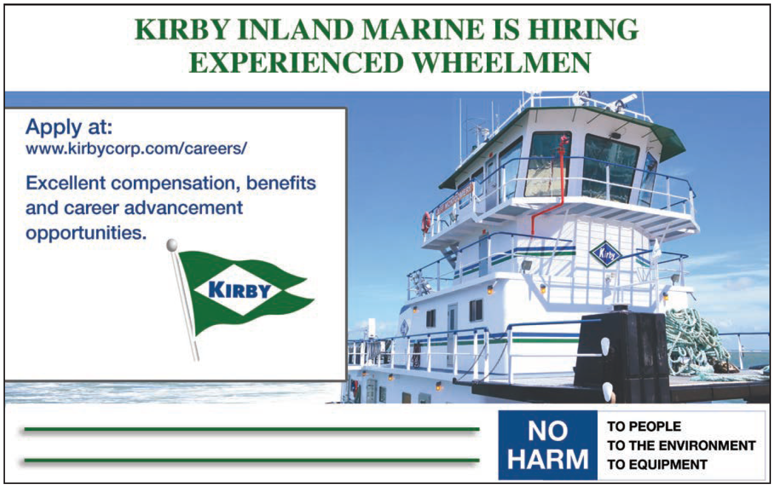 Kirby Inland Marine Service Hiring Wheelmen