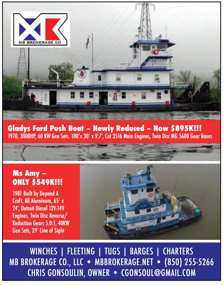 MB Brokerage (Quarter) Push Boats For Sale