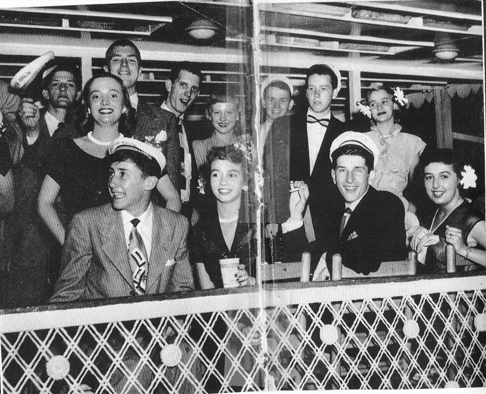 Prom attendees from New Albany High School on the texas deck of the Str. Avalon. (Keith Norrington collection)