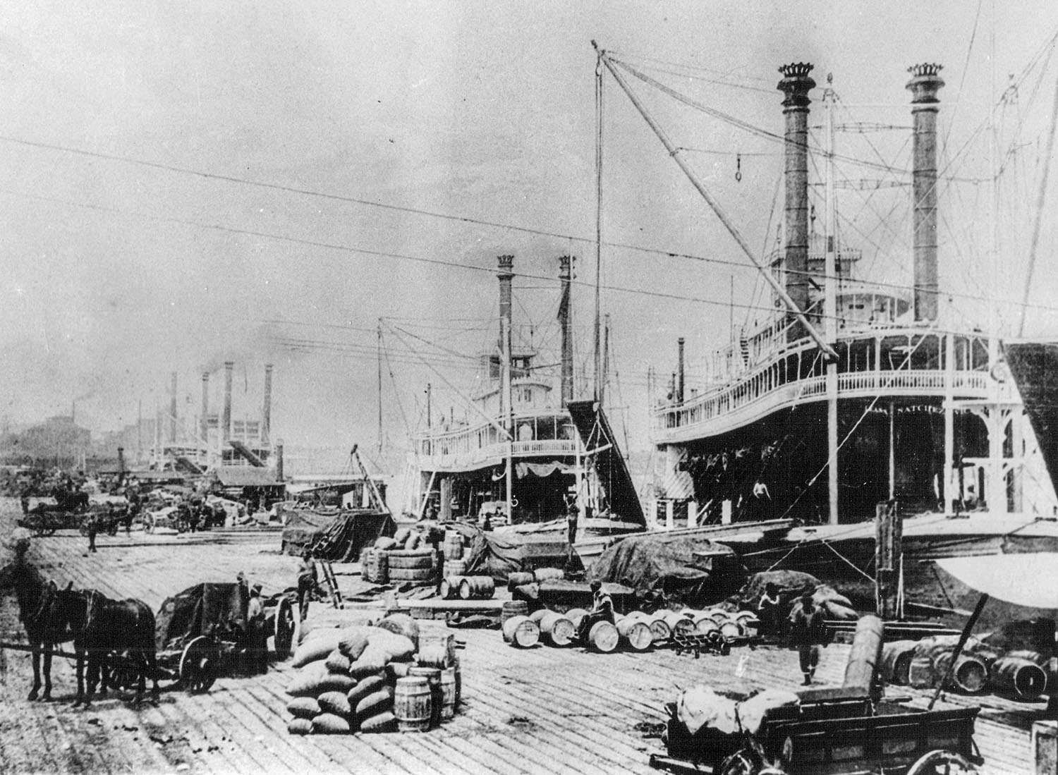 The New Orleans waterfront in 1892. (Keith Norrington collection)