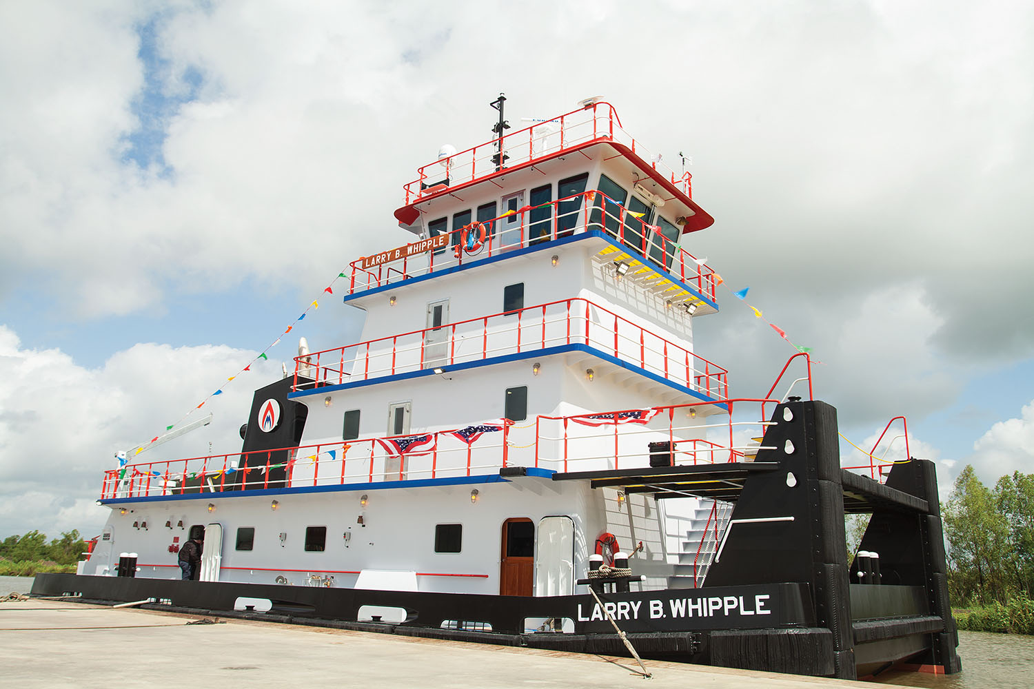 The 2,000 hp. Mv. Larry B. Whipple was built for Maritime Partners LLC by Intracoastal Iron Works. (Photo by Frank McCormack)
