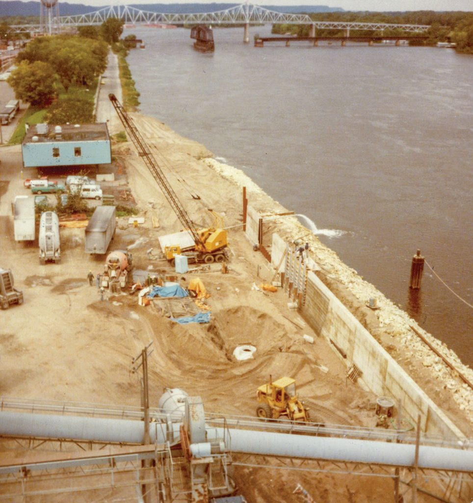 The Winona Floodwall project.