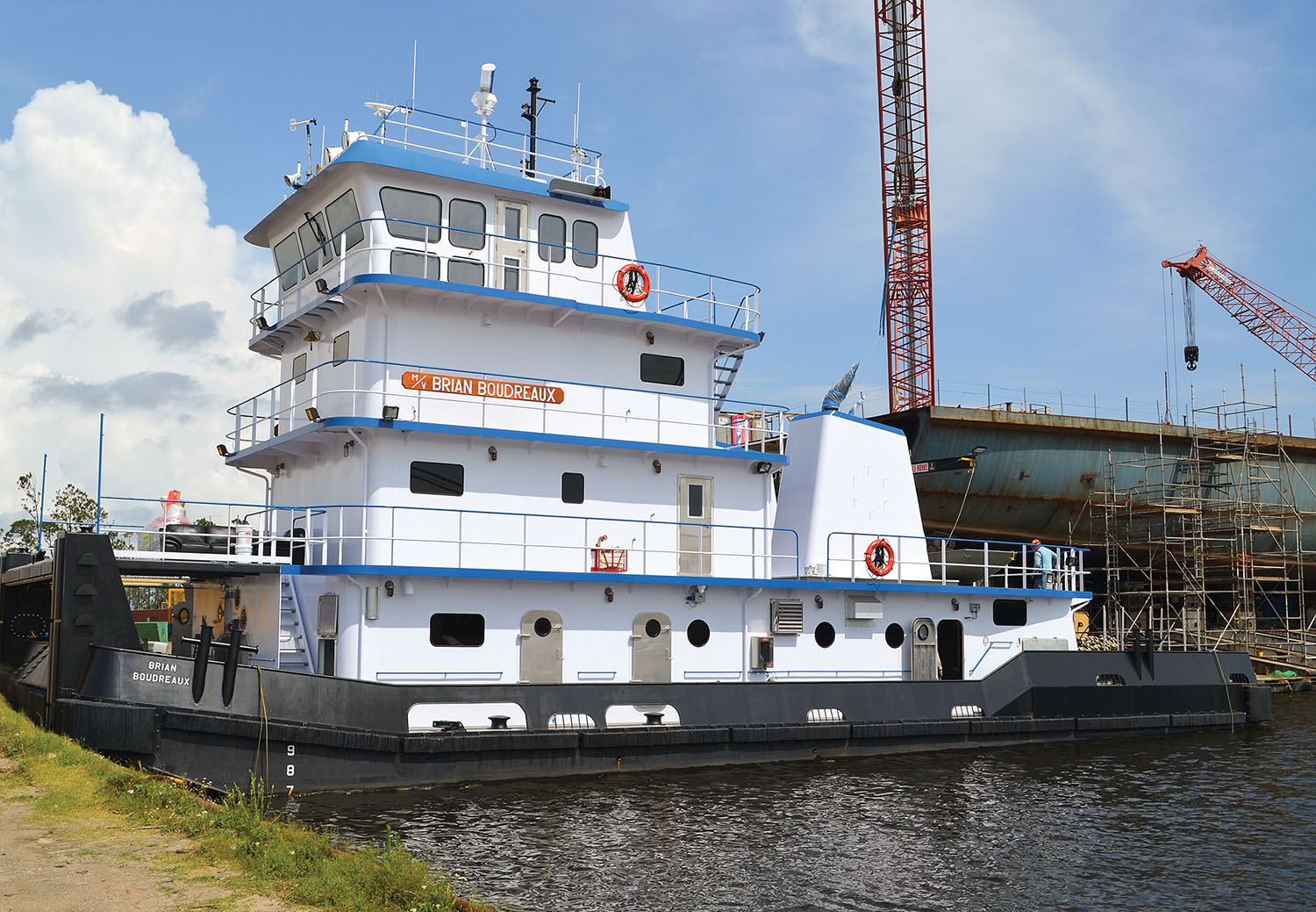 The Brian Boudreaux is the first boat in the series to be issued a Subchapter M Certificate of Inspection.