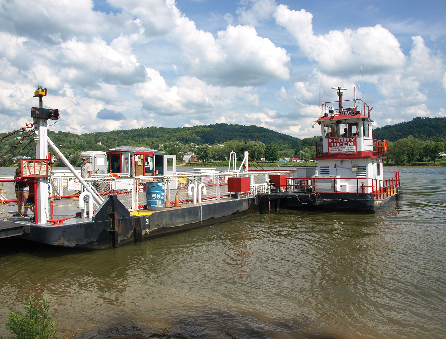 The Sistersville Ferry in 2015 photograph. (Photo by Jim Ross)