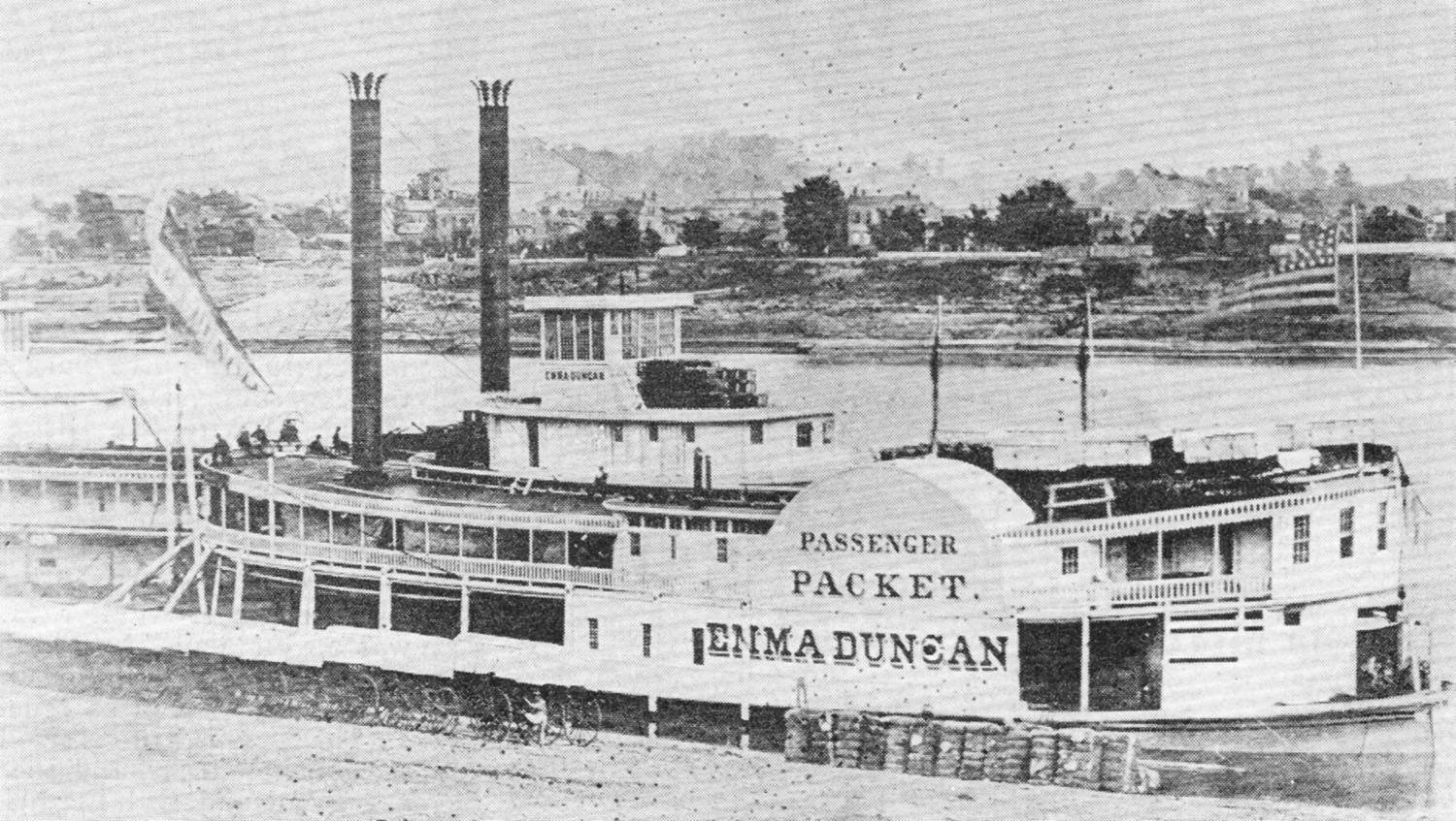 The Emma Duncan at Cincinnati in 1862. (Keith Norrington collection)