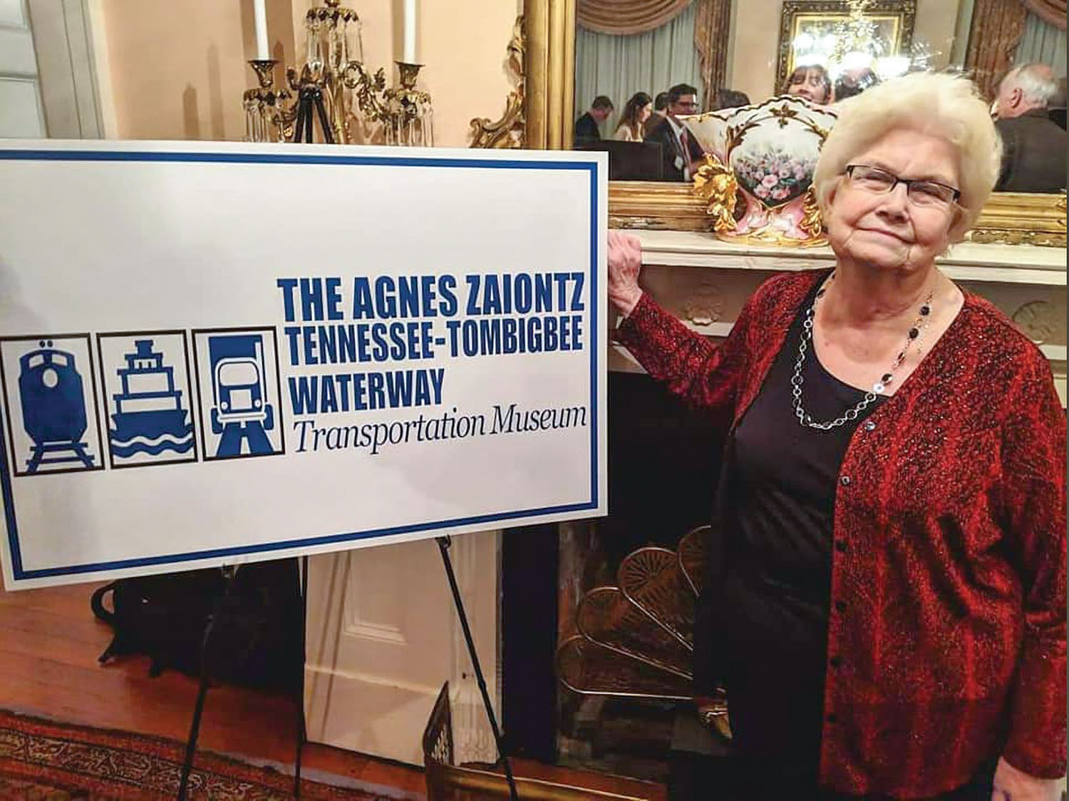 The museum that tells the story of the creation of the Tennessee-Tombigbee Waterway was named for Agnes Zaiontz in a January ceremony.