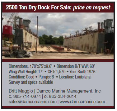 Damco (Quarter) Dry Dock For Sale