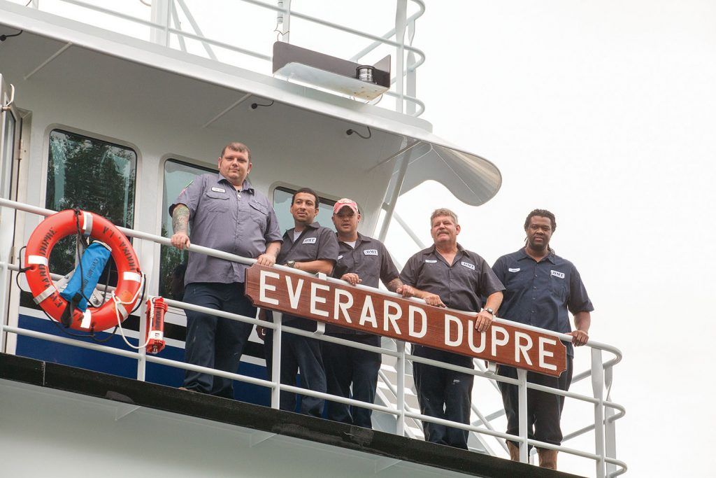 Crew of the Everard Dupre. (Photo by Frank McCormack)