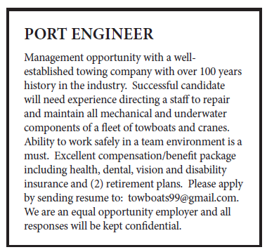Port Engineer (2 inch) Management Opportunity