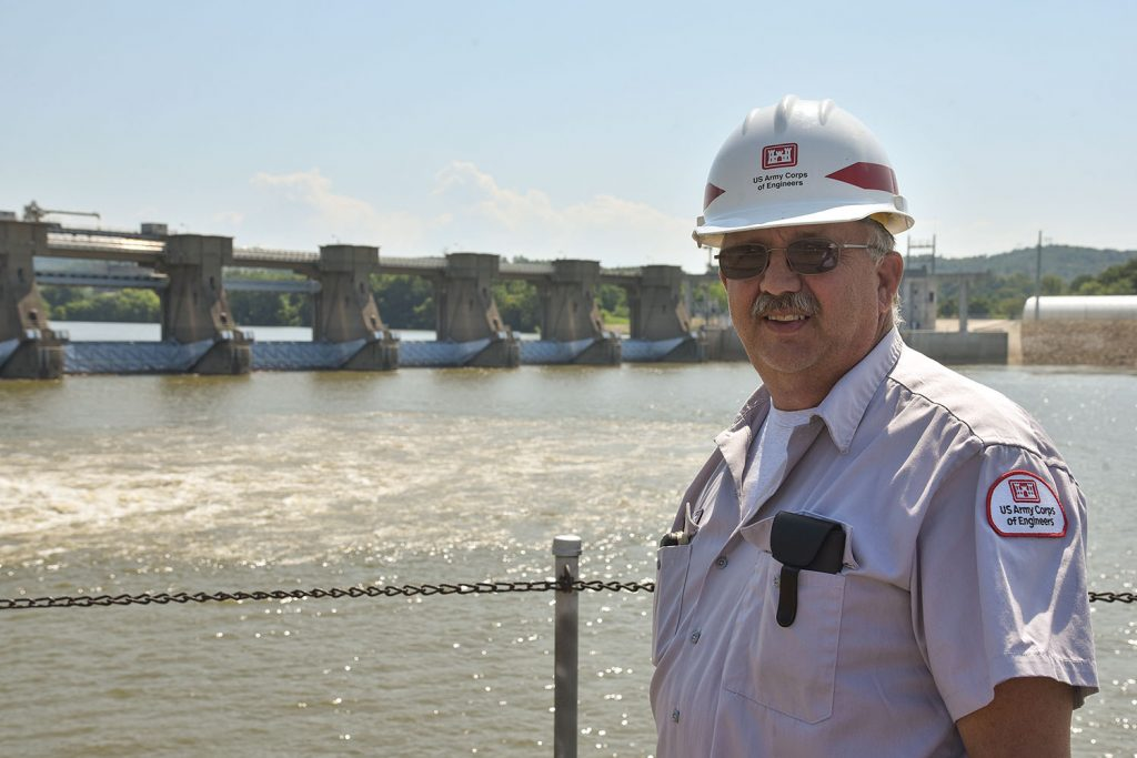 Billy Collins says he will retire at the end of August from his job as lockmaster at Willow Island Locks and Dam and concentrate on his farms in Athens County, Ohio. (Photo by Jim Ross)