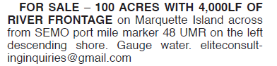 100 ACRES FOR SALE MARQUETTE ISLAND 48 UMR