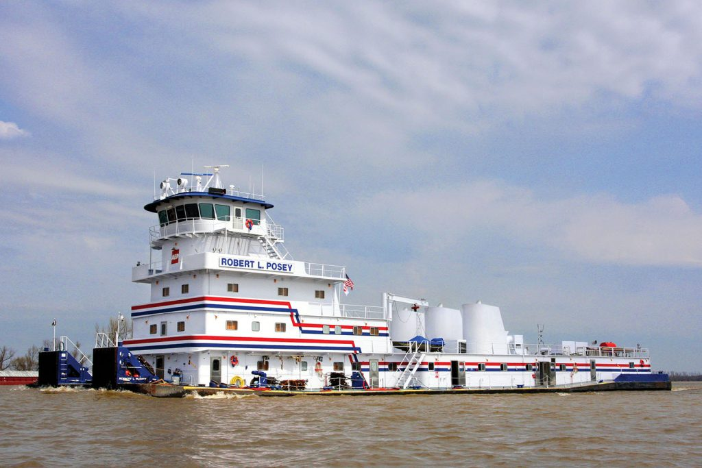 The mv. Robert L. Posey in 2011 before its purchase by ACBL and its present-day upgrade. (Photo by Jeff L. Yates)