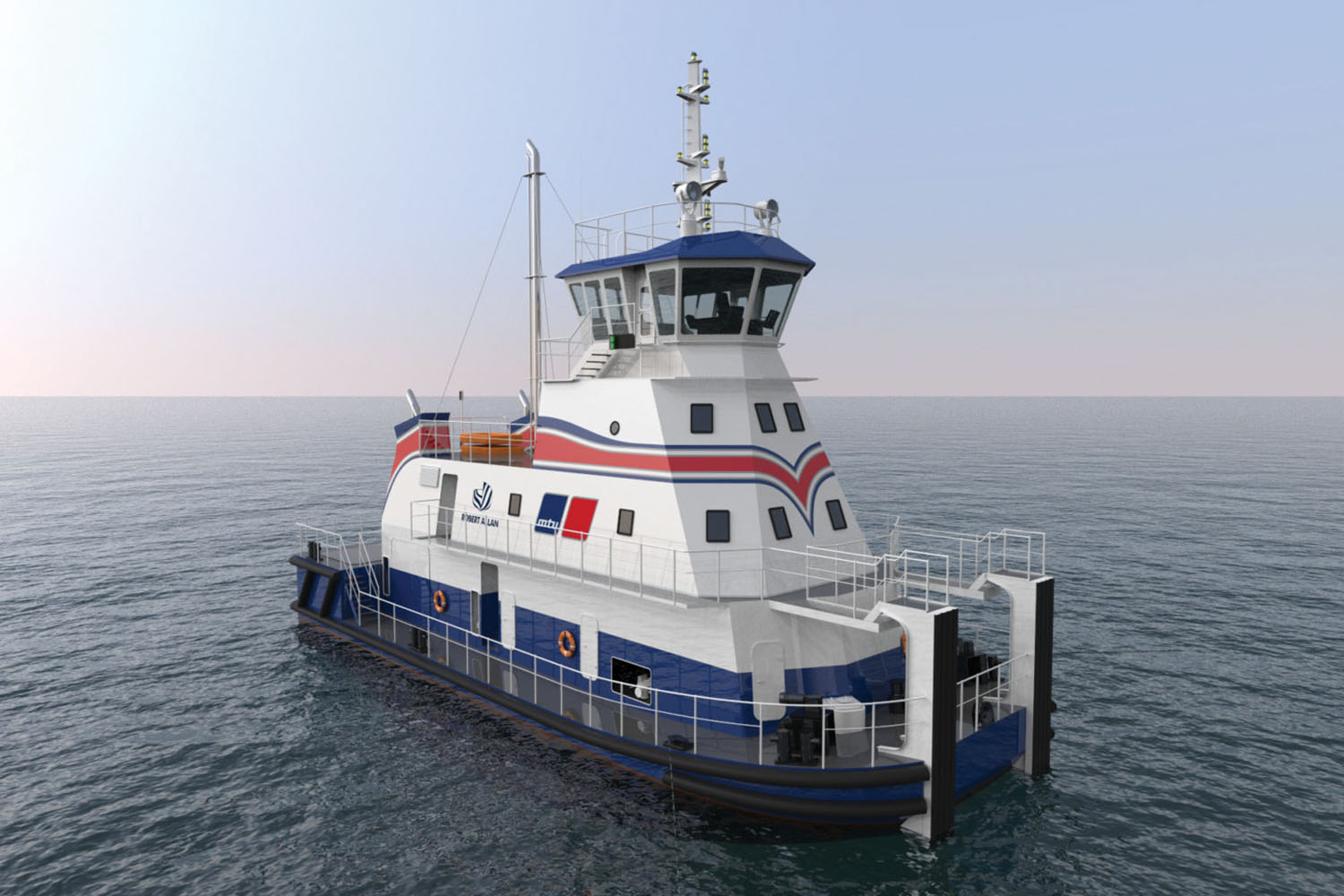 Robert Allan-designed LNG towboat.