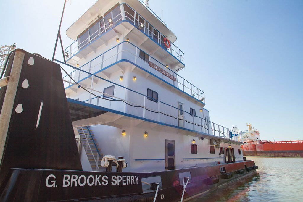 The mv. G. Brooks Sperry was built by John Bludworth Shipyard. (Photo by Frank McCormack)