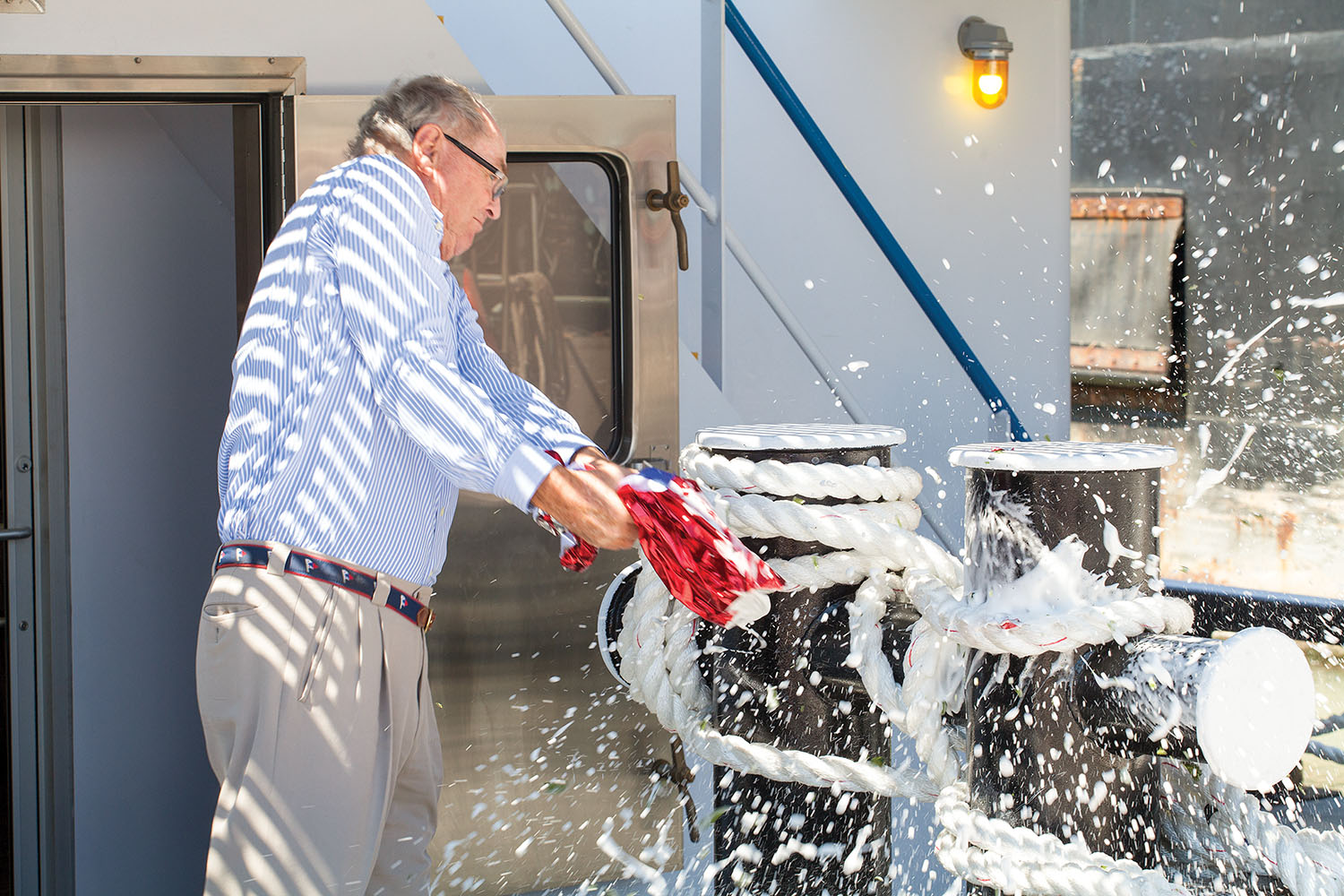 G. Brooks Sperry christens namesake vessel.