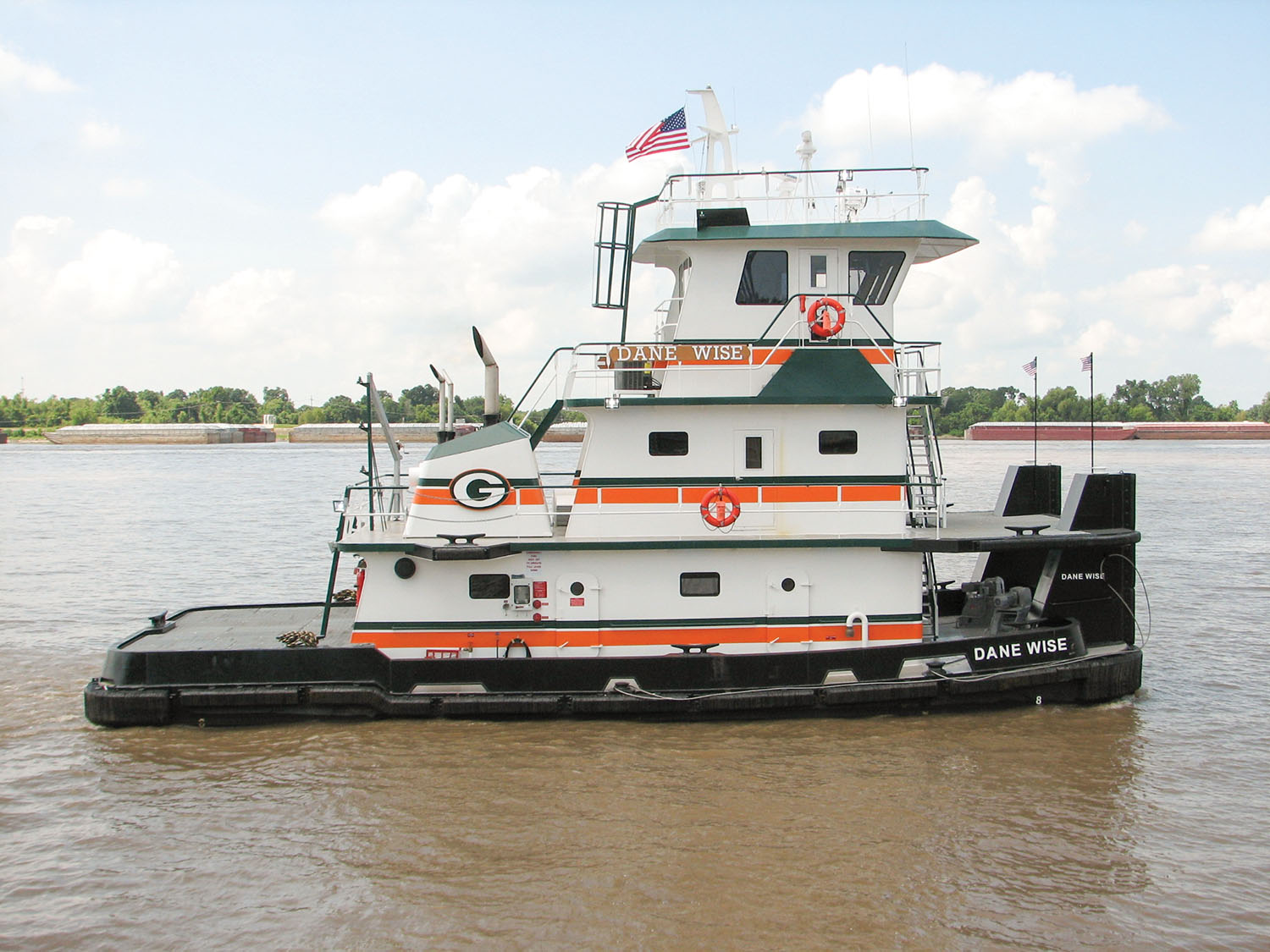 The new boat will resemble the mv. Dane Wise, shown in this 2014 photo, only it will be a foot shorter and a foot narrower.