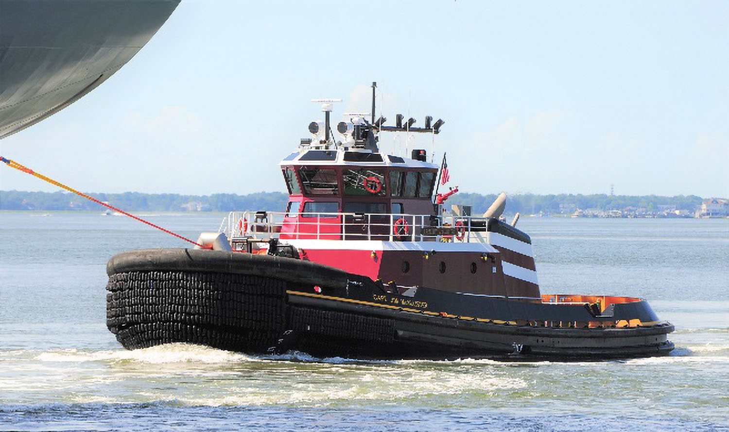 The escort Z-drive tug Capt. Jim McAllister was designed by Jensen Maritime Consultants. (Photo courtesy of Eastern Shipbuilding Group)