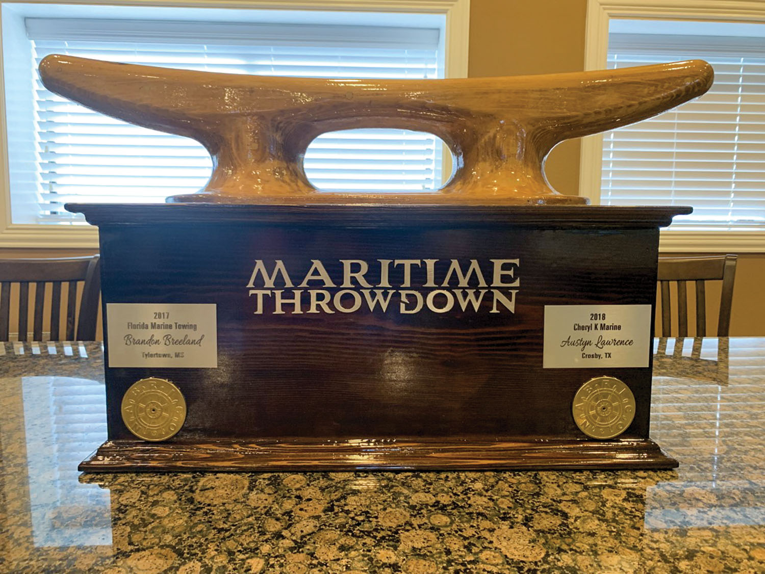 The new Maritime Throwdown trophy was built by Nabrico.