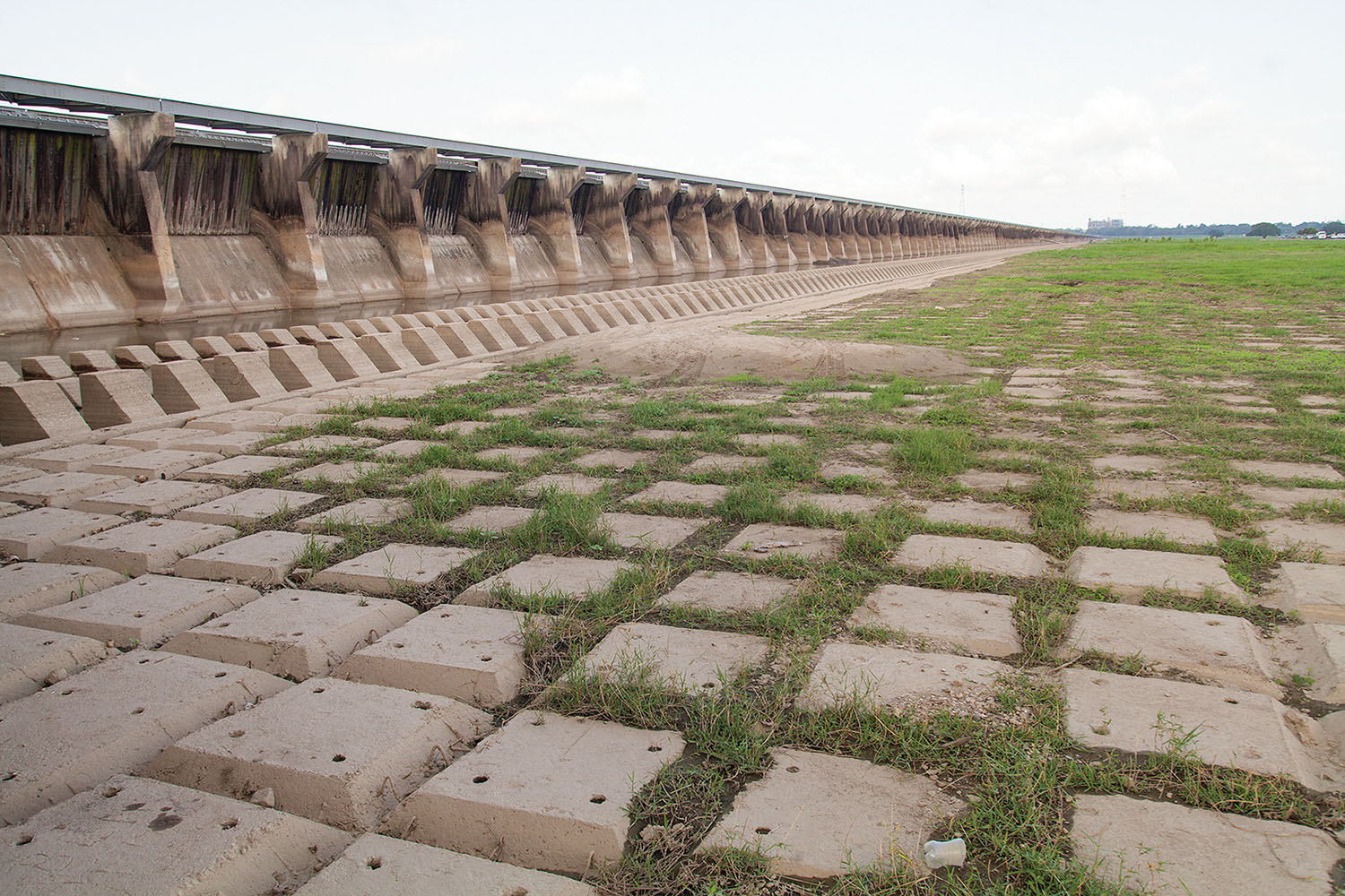 High Water Leaves Mark On Bonnet Carré Spillway, Literally