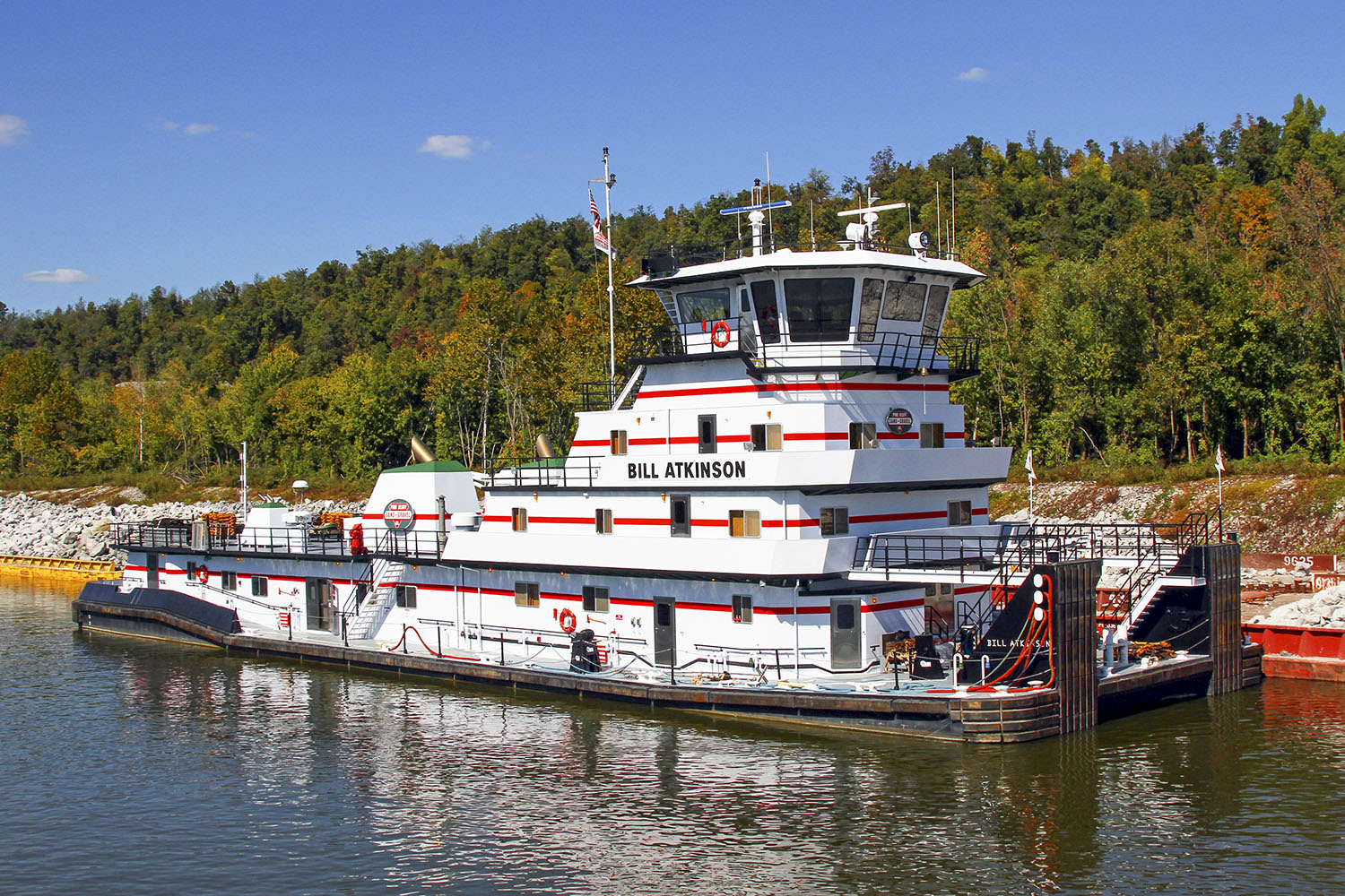 The Bill Atkinson is one of five towboats Canal Barge will buy from Pine Bluff Sand & Gravel. (Photo by Jeff L. Yates)
