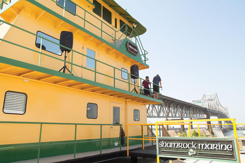 Shamrock Marine Christens New Wheelhouse Office
