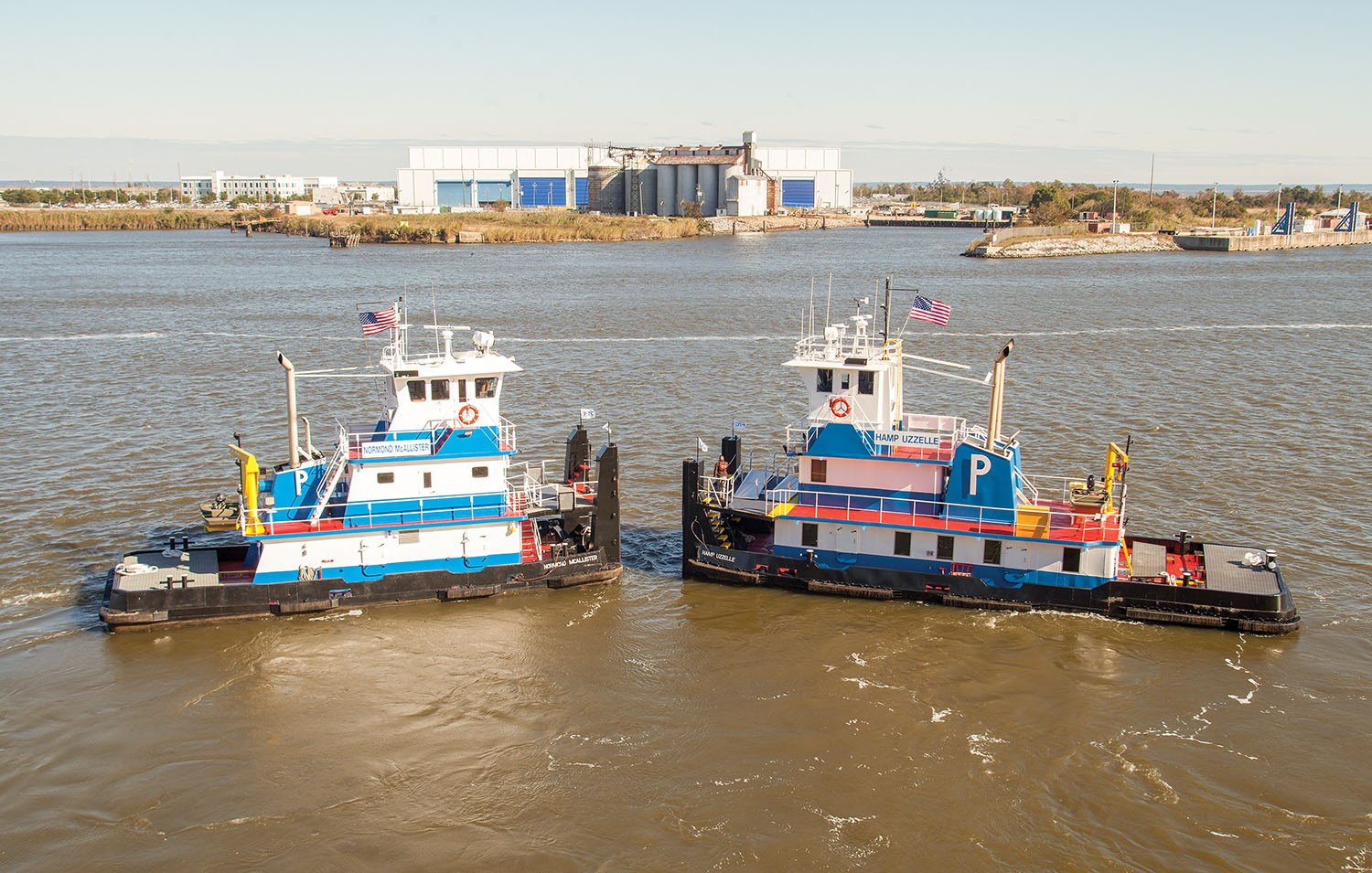 The Normond McAllister and Hamp Uzzelle are the newest additions to the Parker Towing fleet. (Photo by Frank McCormack)