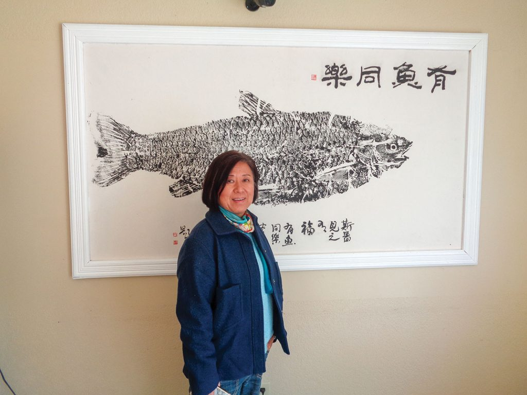 Angie Yu, founder of Two Rivers Fisheries. (Photo by Shelley Byrne)