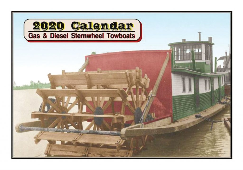 Cover of new Sternwheel Towboats calendar.